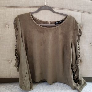 FTF green cutout sleeves top Size 1X